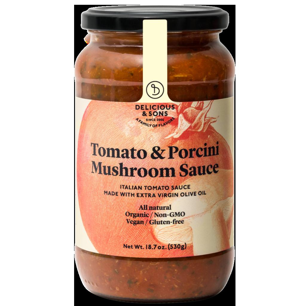 Tomatensaus Porcini Champignons