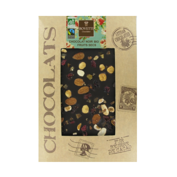 Pure chocolade met gedroogde vruchten XL
